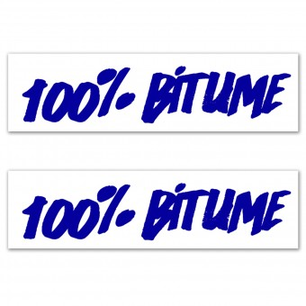 Kit Autocollants Moto 100% Bitume Lot 2 Stickers 100% Bitume 14 x 3 Blue