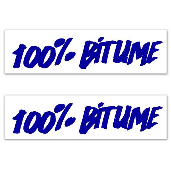 Kit Autocollants Moto 100% Bitume Lot 2 Stickers 100% Bitume 14 x 3 Blue