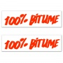 Kit Autocollants Moto 100% Bitume Lot 2 Stickers 100% Bitume 14 x 3 Fluo Orange