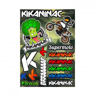 Kit Autocollants Moto Kikaninac Planche Stickers Brocolis