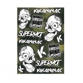 Kit Autocollants Moto Kikaninac Planche Stickers Supermot