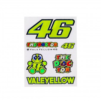 Kit Autocollants Moto VR 46 Stickers Small Multicolor VR46