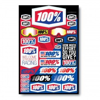 Kit Autocollants Moto 100% Decal Sheet