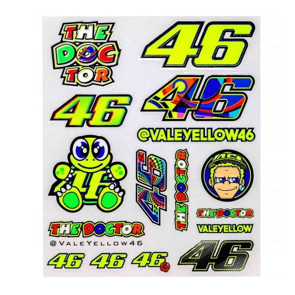 Kit Autocollants Moto VR 46 Stickers Big VR46 Multicolore