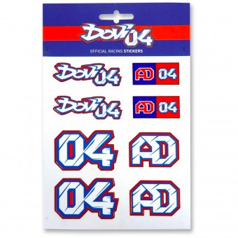Kit Autocollants Moto Andrea Dovizioso Stickers Multicolor Dovizioso 04