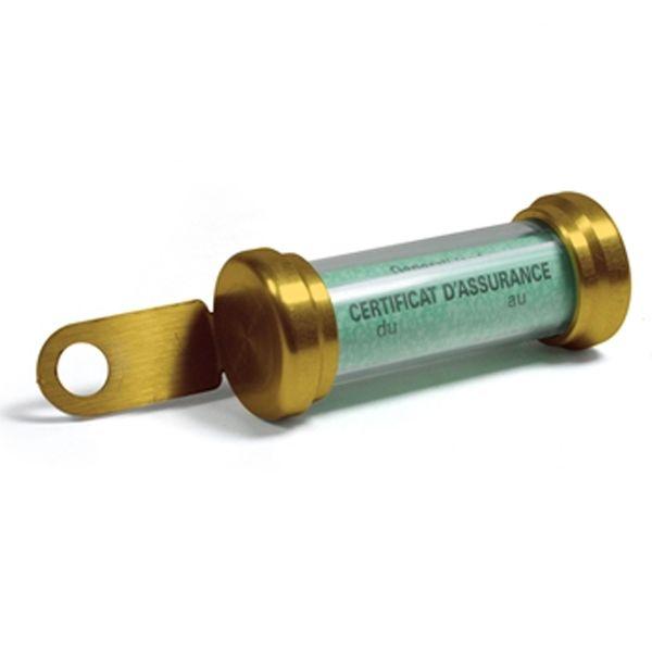 Porte Assurance Chaft Porte Vignette Tube Gold