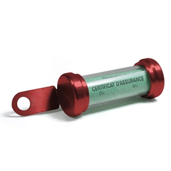 Porte Assurance Chaft Porte Vignette Tube Red