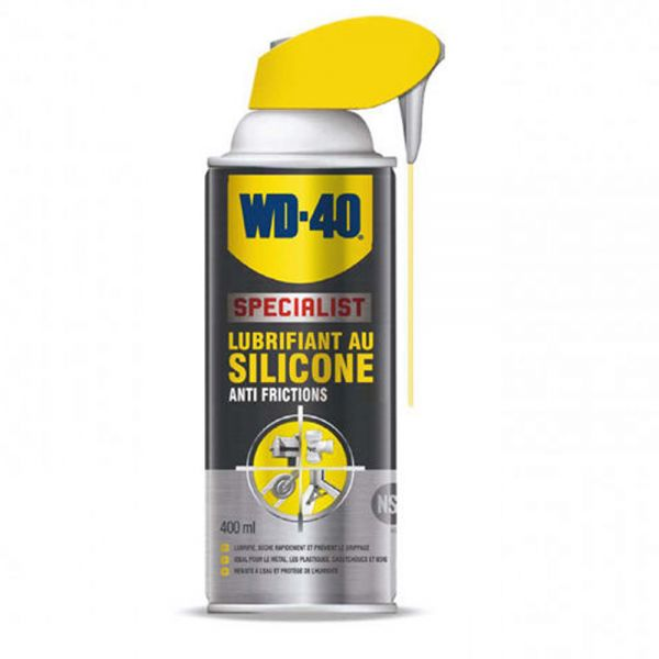 produit d 39 entretien wd 40 spray lubrifiant silicone 400 ml. Black Bedroom Furniture Sets. Home Design Ideas