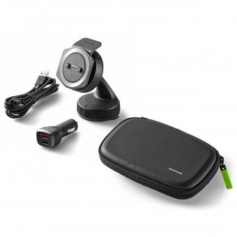 Accessoires GPS TomTom Kit Support Voiture avec Chargeur et Housse de Transport Rider 40 - Ride