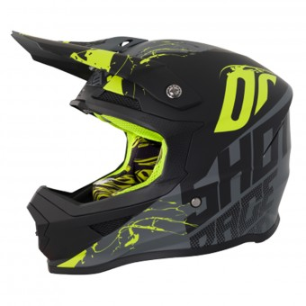 Casque Cross SHOT Furious Venom Grey Neon Yellow