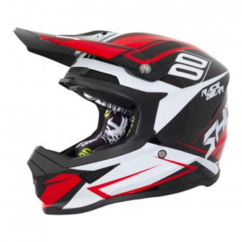 Casque Cross SHOT Furious Alert Black Red