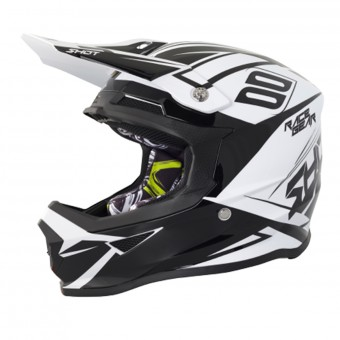 Casque Cross SHOT Furious Alert Black White
