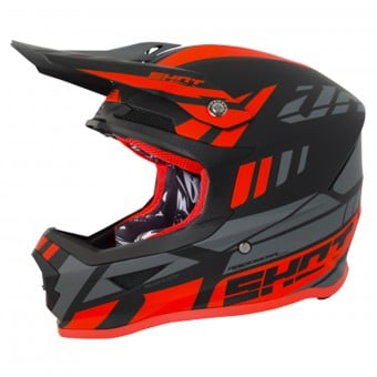 Casque Cross SHOT Furious Riot Neon Orange Grey Matt