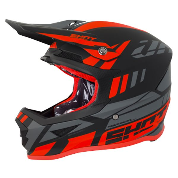 casque shot furious riot neon orange grey matt en stock. Black Bedroom Furniture Sets. Home Design Ideas