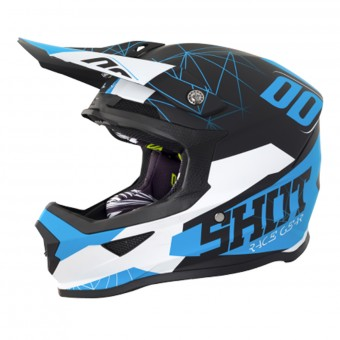 Casque Cross SHOT Furious Spectre Black Blue Matt