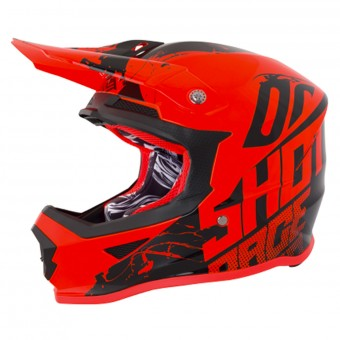 Casque Cross SHOT Furious Venom Neon Orange