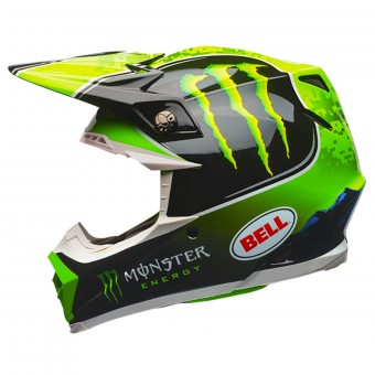 Casque Cross Bell Moto-9 Tomac Replica Black Green