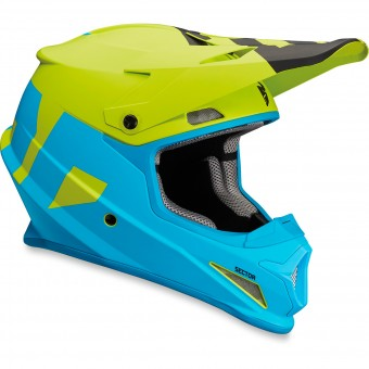 Casque Cross Thor Sector Level Blue Lime