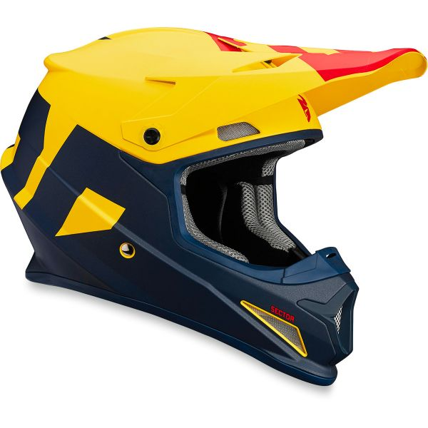 Casque Cross Thor Sector Level Navy Yellow
