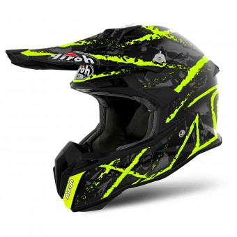 Casque Cross Airoh Terminator Open Vision Carnage Yellow