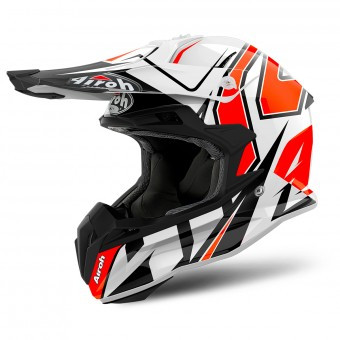 Casque Cross Airoh Terminator Open Vision Shock Orange