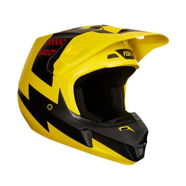casque fox v2 mastar yellow au meilleur prix. Black Bedroom Furniture Sets. Home Design Ideas