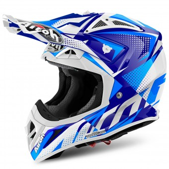 Casque Cross Airoh Aviator 2.2 Flash Blue