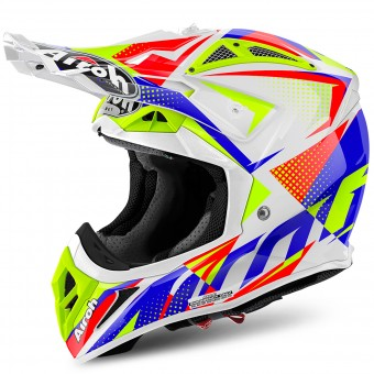 Casque Cross Airoh Aviator 2.2 Flash White