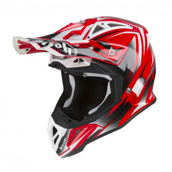 Casque Cross Airoh Aviator 2.3 AMS Fame Rouge