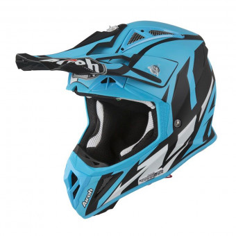 Casque Cross Airoh Aviator 2.3 AMS Great Bleu Mat