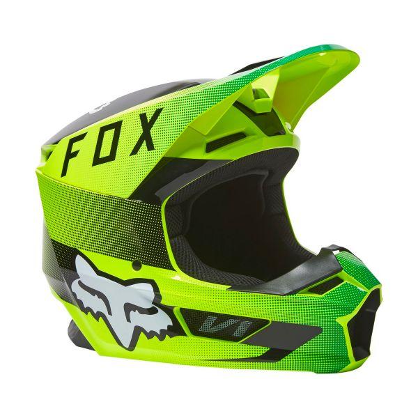 Casque Cross FOX V1 Ridl Fluo Yellow