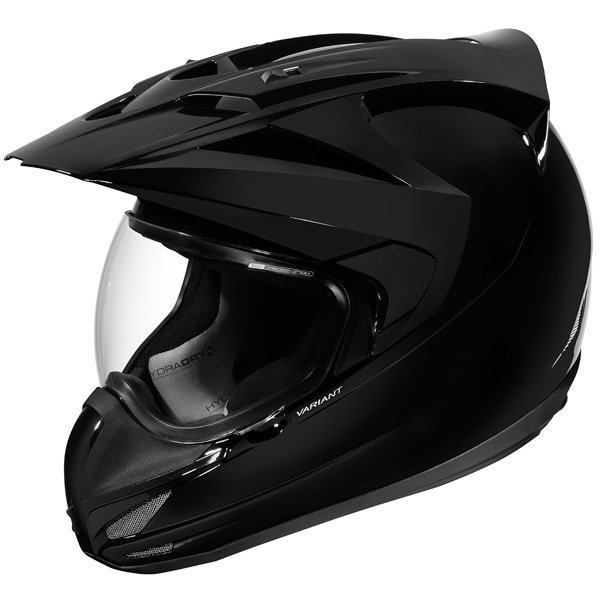 Casque Cross ICON Variant Solid Black