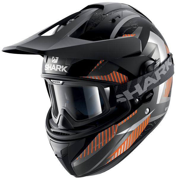 Casque Cross Shark Explore-R Peka Mat KAO