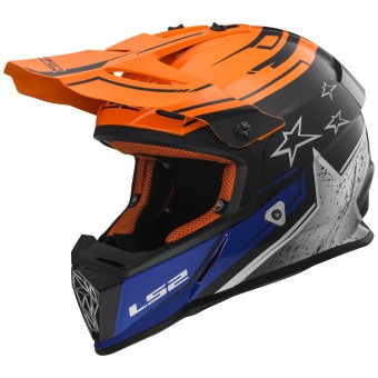 Casque Cross LS2 Fast Core Orange MX437