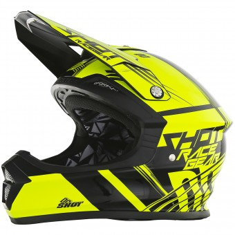 Casque Cross SHOT Furious Claw Neon Yellow