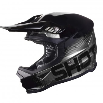 Casque Cross SHOT Furious Coalition Argent