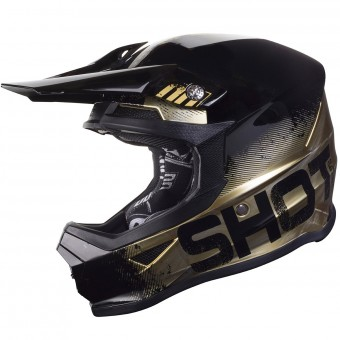 Casque Cross SHOT Furious Coalition Or