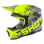 Casque Cross SHOT Furious Counter Gris Neon Jaune