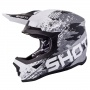 Casque Cross SHOT Furious Counter Noir Blanc Matt