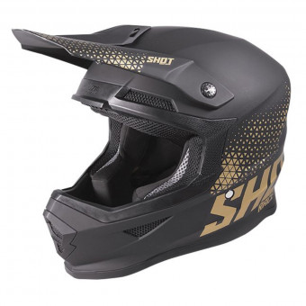 Casque Cross SHOT Furious Raw Black Gold Matt