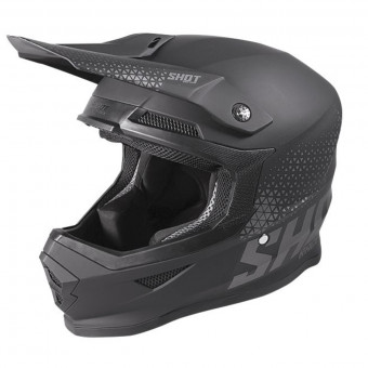 Casque Cross SHOT Furious Raw Black Grey Matt