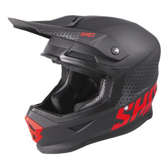 Casque Cross SHOT Furious Raw Black Red Matt