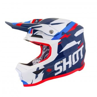 Casque Cross SHOT Furious Score Bleu Neon Orange