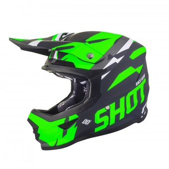Casque Cross SHOT Furious Score Neon Vert Matt