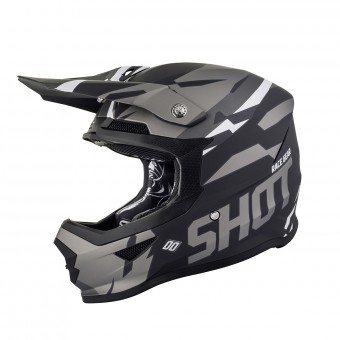 Casque Cross SHOT Furious Score Noir Metal Matt