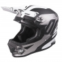 Casque Cross SHOT Furious Shadow Black White Matt