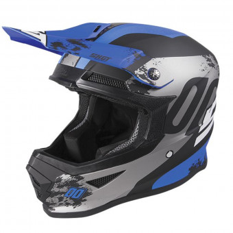 Casque Cross SHOT Furious Shadow Blue Matt