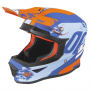 Casque Cross SHOT Furious Shadow Blue Orange Matt