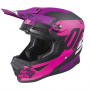 Casque Cross SHOT Furious Shadow Neon Pink Fuchsia Matt