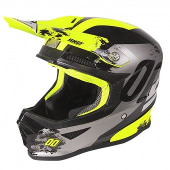 Casque Cross SHOT Furious Shadow Neon Yellow Kid